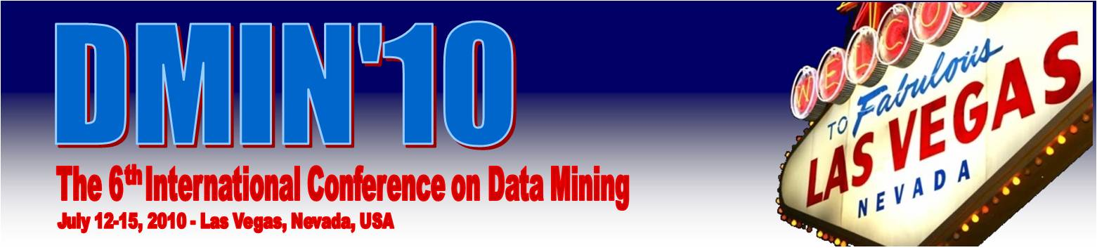 DMIN 2009 - The International Conference on Data Mining